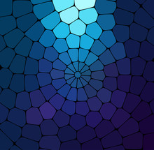 Vector Blue Stained Glass Background