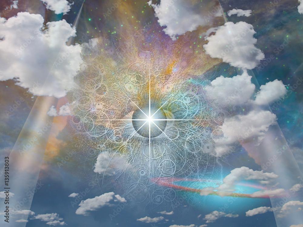 Fototapeta Eye of God  Some elements provided courtesy of NASA
