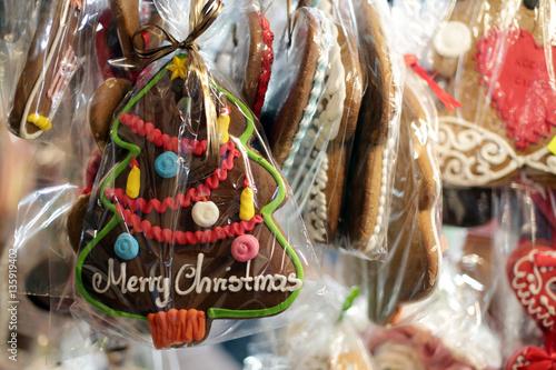 Christmas gingerbreads at christmas market