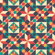 Seamless Pattern In Style Of P...