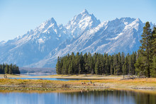 Colter Bay At Grand Teton National Park