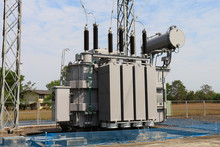 Power Transformer In 115 Kv Sub Station.