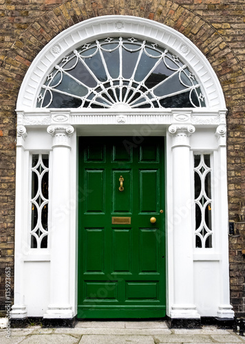 Fotografia  Irland - Dublin - bunte Türen am Merrion Square Park