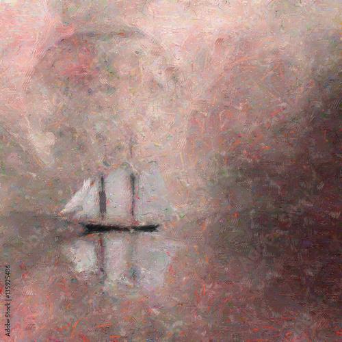 Fotografie, Obraz  Moonlight Cruise