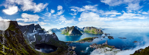 Poster Northern Europe Lofoten archipelago panorama