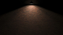 Dark Wall With Lamp Above 3d R...