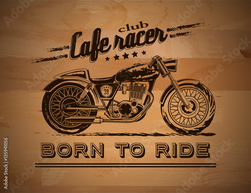 Motorcycle graphic banner Canvas Print