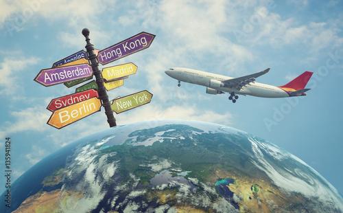 Obraz na dibondzie (fotoboard) Podróżować