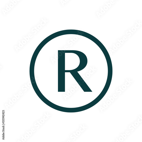 Registered Trademark Symbol Isolated On White Background Buy This