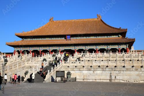 Foto op Canvas Beijing Pagode in der Verbotenen Stadt, Peking