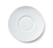 Top View Of Ceramic Saucer