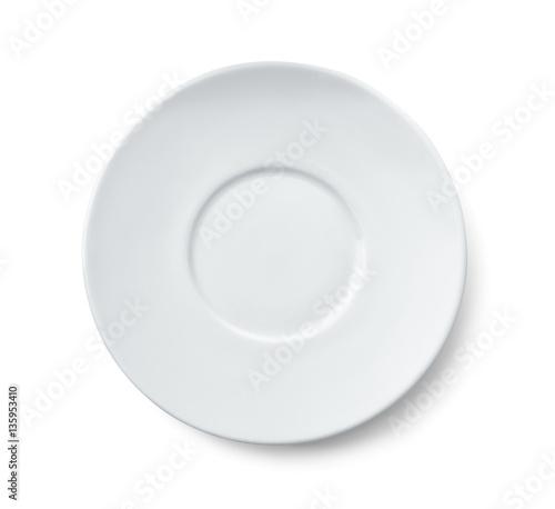 Fotografia Top view of ceramic saucer