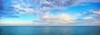 canvas print picture - beautiful seascape panorama.