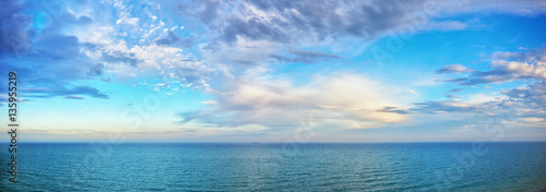 Photo Stands Ocean beautiful seascape panorama.