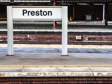 Preston Railway Station Sign
