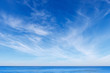 canvas print picture - beautiful blue sky with white Cirrus clouds