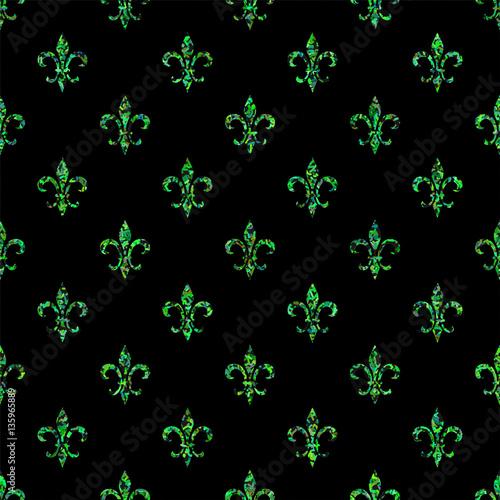 fleur de lis seamless pattern ols style template floral classic