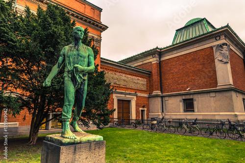 Photo  December 05, 2016: Statue in a garden in Copenhagen, Denmark