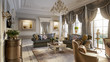 Leinwandbild Motiv Luxurious baroque living room