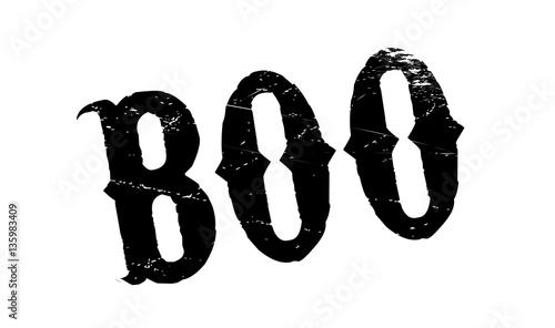 Fotografia, Obraz  Boo rubber stamp