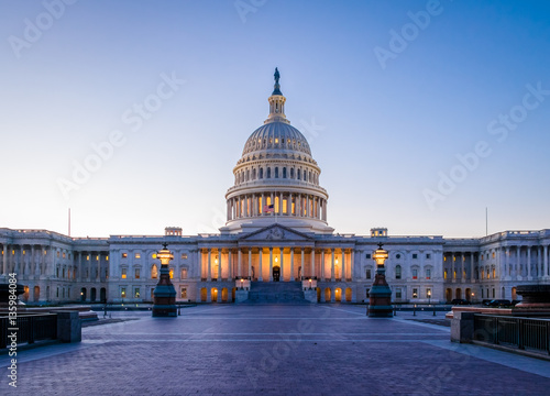 United States Capitol Building at sunset - Washington, DC, USA