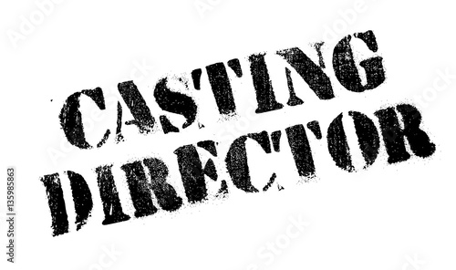 Casting Director rubber stamp. Grunge design with dust scratches. Effects can be easily removed for a clean, crisp look. Color is easily changed.