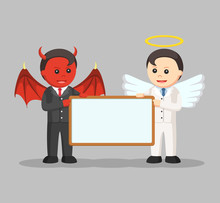Devil And Angel Businessman Ho...