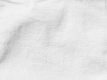White Denim Textile Material With Visible Texture For Background