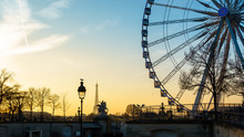 The Ferris Wheel And The Eiffe...