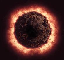 3D Volcanic Planet Exploding