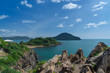 Beautiful Rocky Cliff with Clear Sea at Noen Nangphaya View Point, Chanthaburi, Thailand