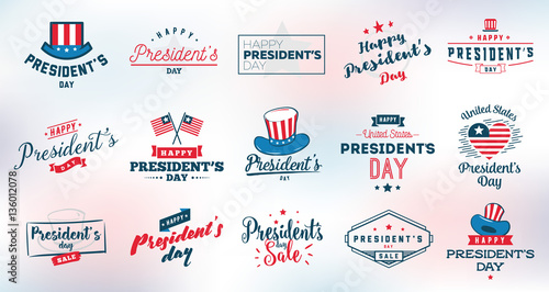 Photo Presidents day vector typography.