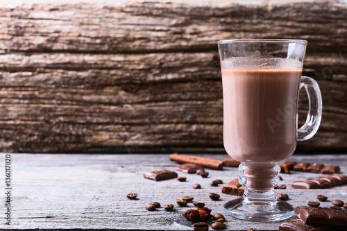 Foto op Plexiglas Chocolade Hot chocolate drink