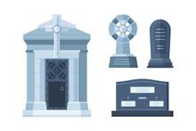 Tombstone Crypt Vector Constru...