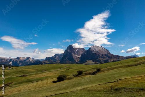 Poster Onweer Plattkofel Dolomiten Südtirol Italien