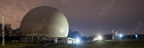 astronomical observatory bochum germany at night