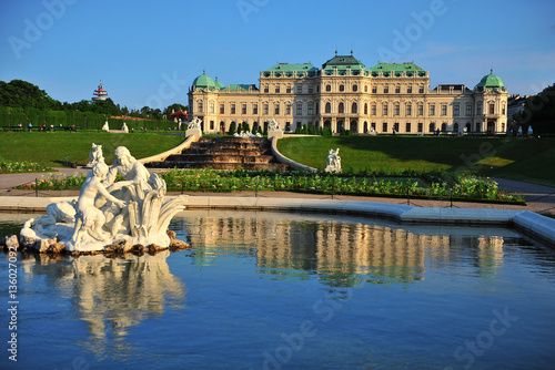 Summer view of Belvedere royal palace