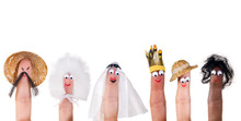 Human Races Finger Puppets