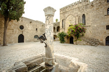 Antique Architecture Of The Old Town, Rhodes, Greece.