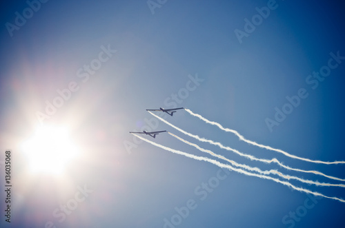 Fotografering  Plane on the sky during the airshow