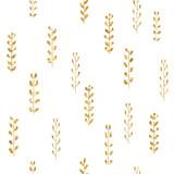 Wzór złoto rośliny. - 136040638