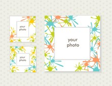 Three Photo Frames For Your Design. Vector