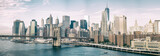Fototapeta Nowy York - NEW YORK CITY - OCTOBER 22, 2015: Lower Manhattan skyline from M