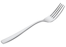Fork Isolated On White. Vector 3d Illustration