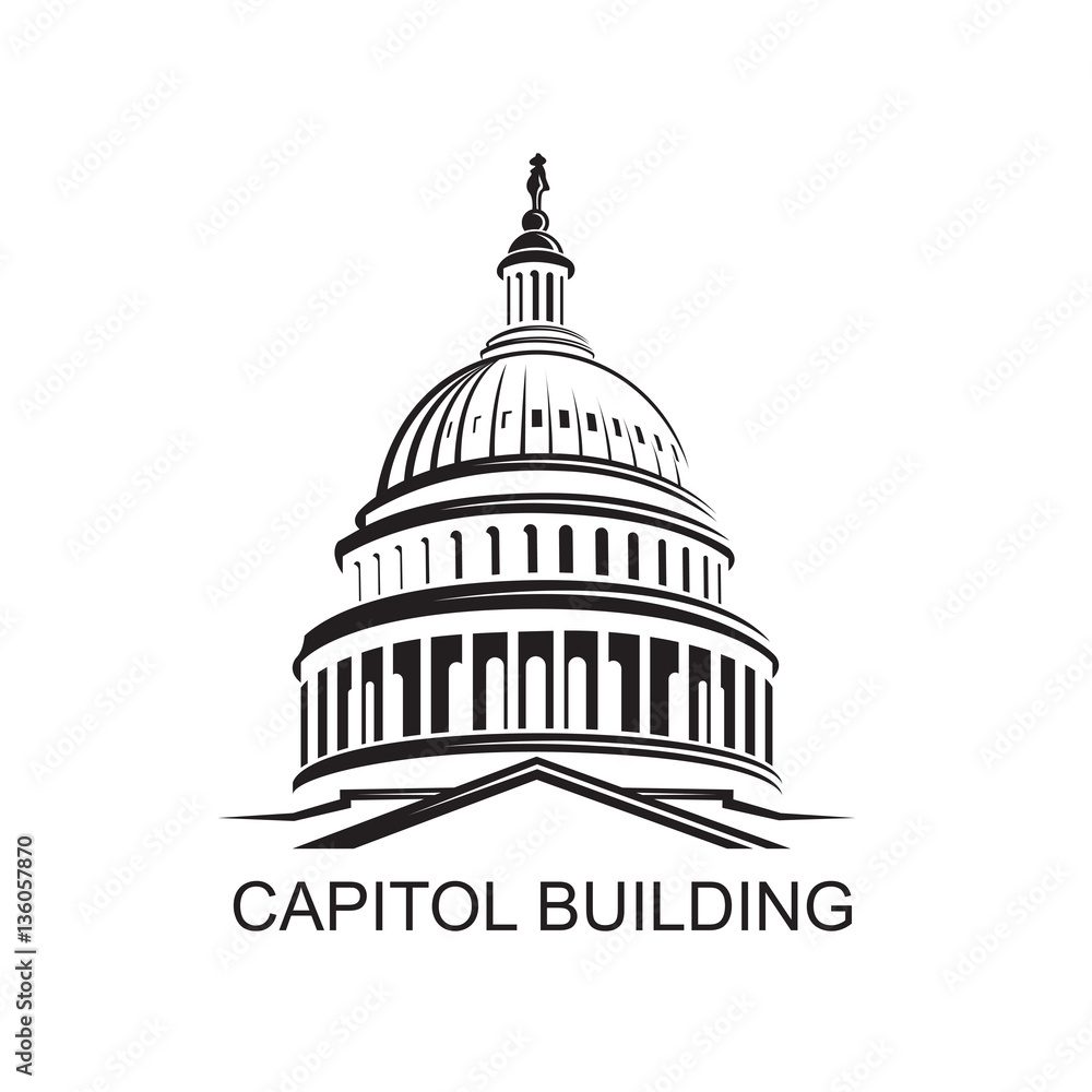 Fototapeta Unated States Capitol building icon in Washington DC