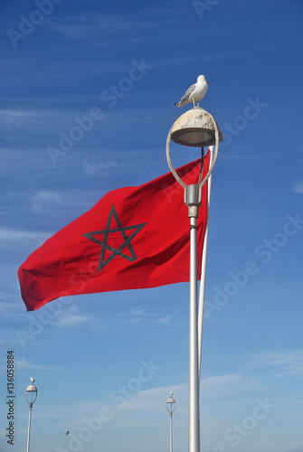 Poster Marokko Bandiera del Marocco