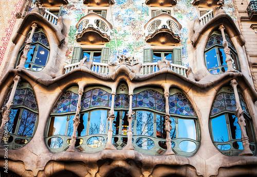 Fényképezés  BARCELONA - APR 20: Casa Batllo on April 20, 2016 in Barcelona, Spain