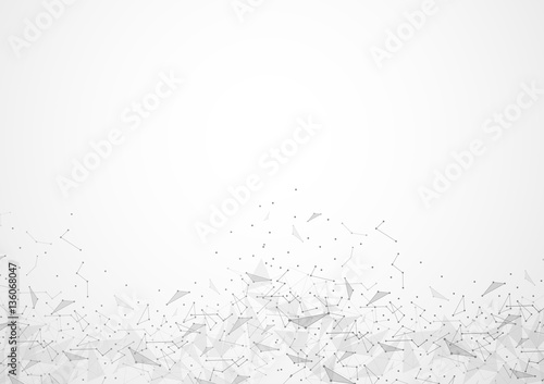 Abstract polygonal space low poly background #136068047