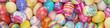 Leinwanddruck Bild - Bunte Ostereier zu Ostern als Hintergrund