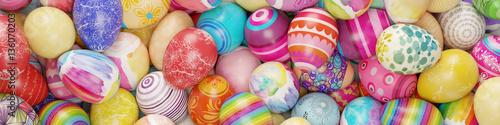Bunte Ostereier zu Ostern als Hintergrund
